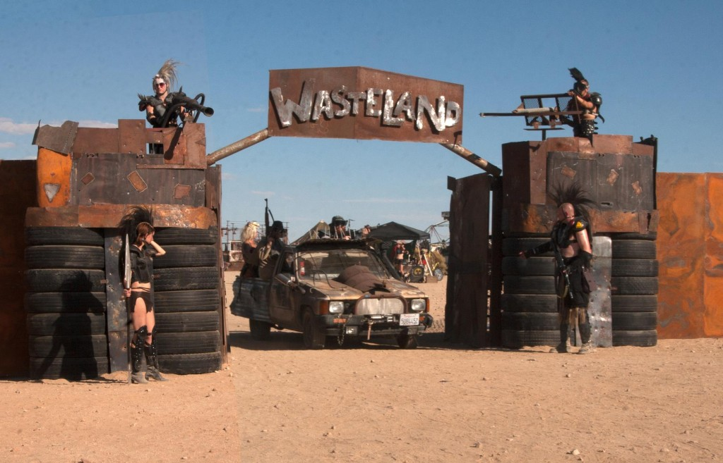 The WCC 121 light truck passing through the Wasteland gate.