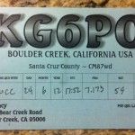QSL card from KG6PO