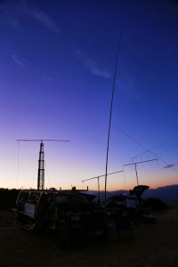 The WCC UHF antennas in the field. Photo by Alex K6VHF.